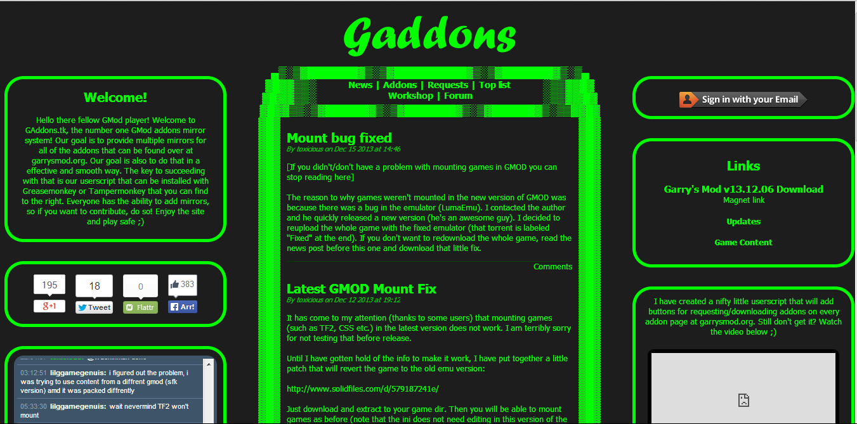 gaddons script