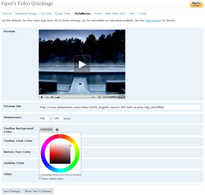 Vipers Video Quicktags WordPress